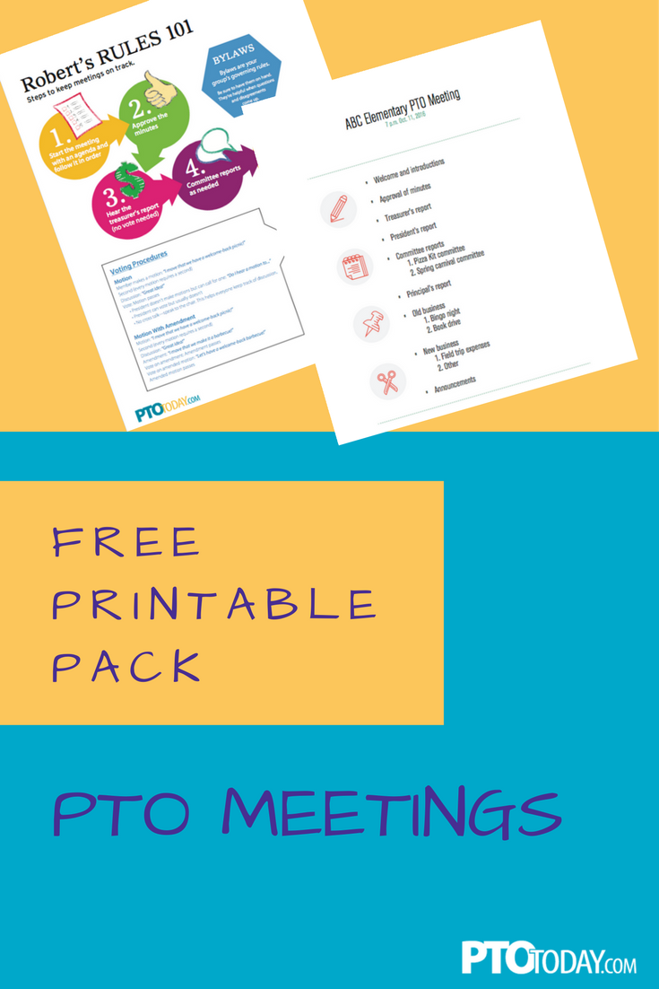 Get our collection of free printables for PTO or PTA meetings ...