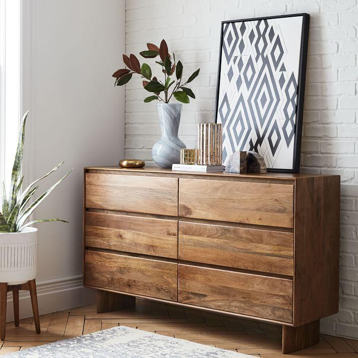 Anton Solid Wood 6 Drawer Dresser In 2020 Dresser Decor Bedroom Chest Of Drawers Decor Dresser Decor