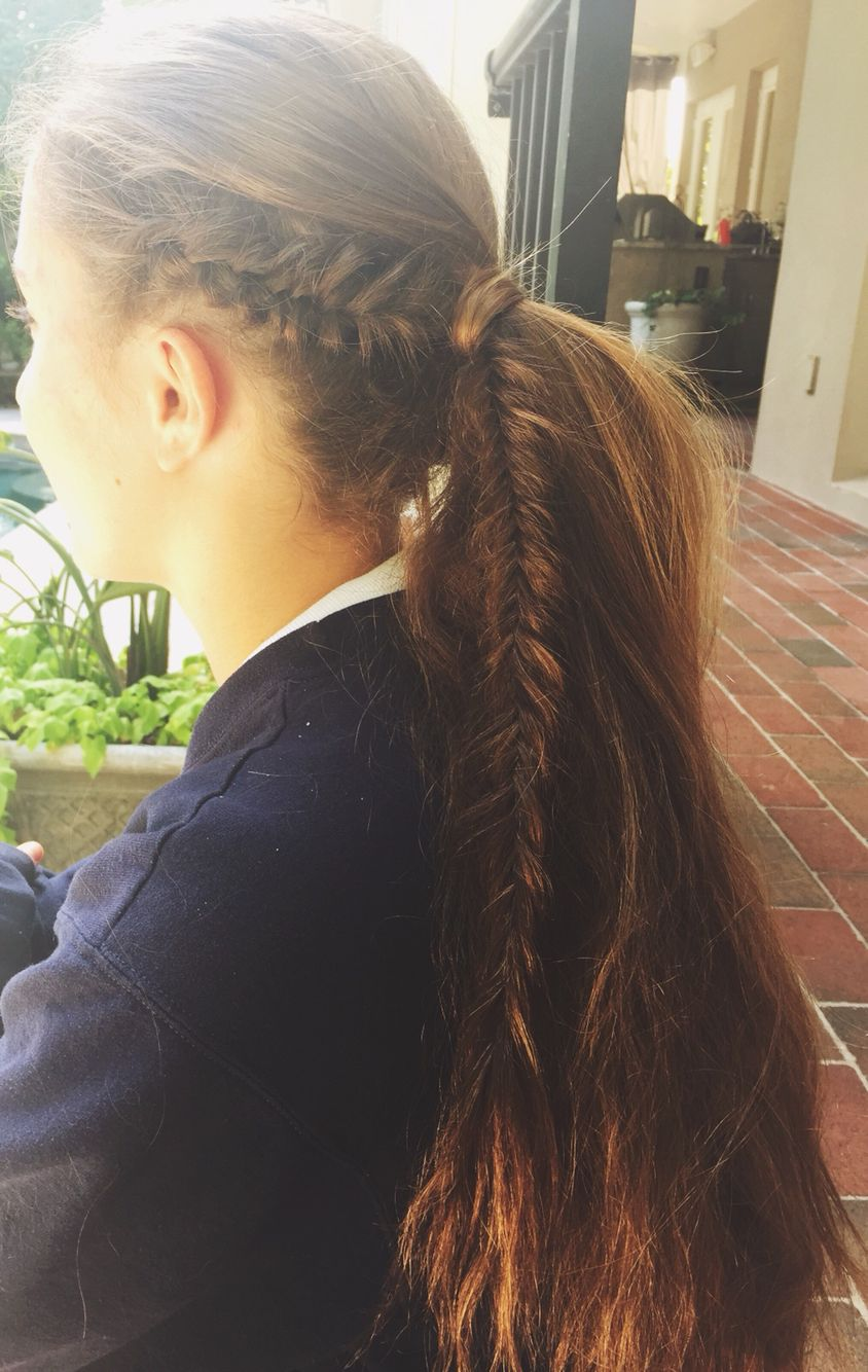 Side French fishtail braid