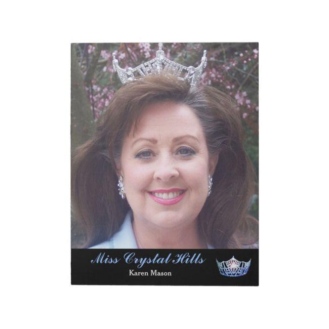 Miss America style Pageant Crown Autograph Pad | Zazzle.com