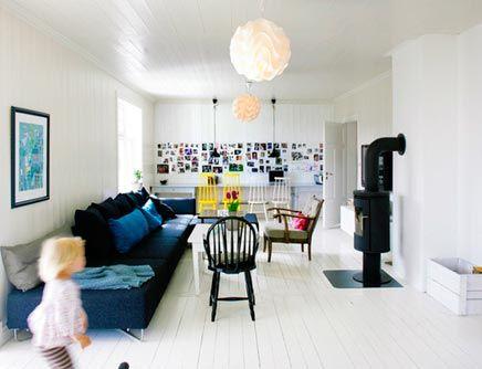 Witte Zweedse Woonkamer : Gezellige witte woonkamer met verschillende stijlen ideeën voor