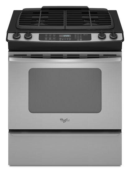 Whirlpool Gw399lxus Slide In Range Self Cleaning Ovens Glass Cooktop