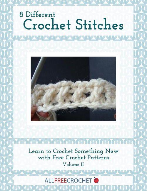 8 Different Crochet Stitches, Volume II | Puntos