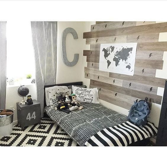 Cool boys bedroom decor ideas these bedrooms for the little boys beautiful and stunning boys room in house with our lightning pattern and world map decals love the wood panels gumiabroncs Images