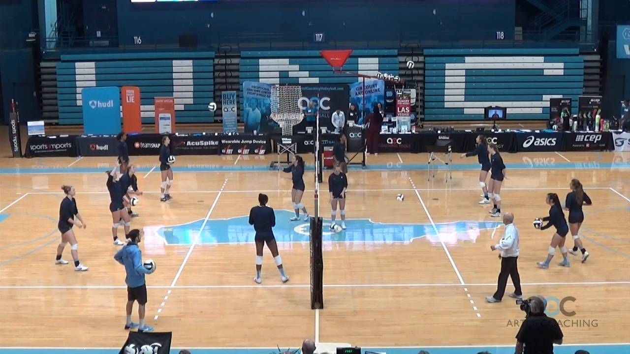 Multiple Skill Warmup Drill For Groups Of Three The Art Of Coaching Volleyball Coaching Volleyball Warmup Volleyball
