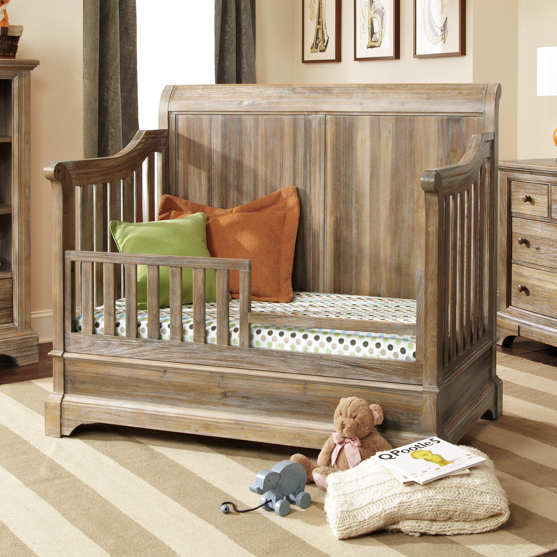 Bertini Pembrooke 4-in-1 Convertible Crib, Natural Rustic ...