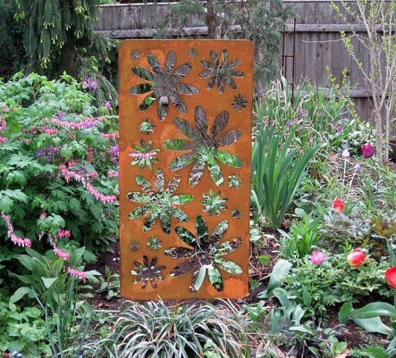privacy accent screen garden art outdoor room divider panel
