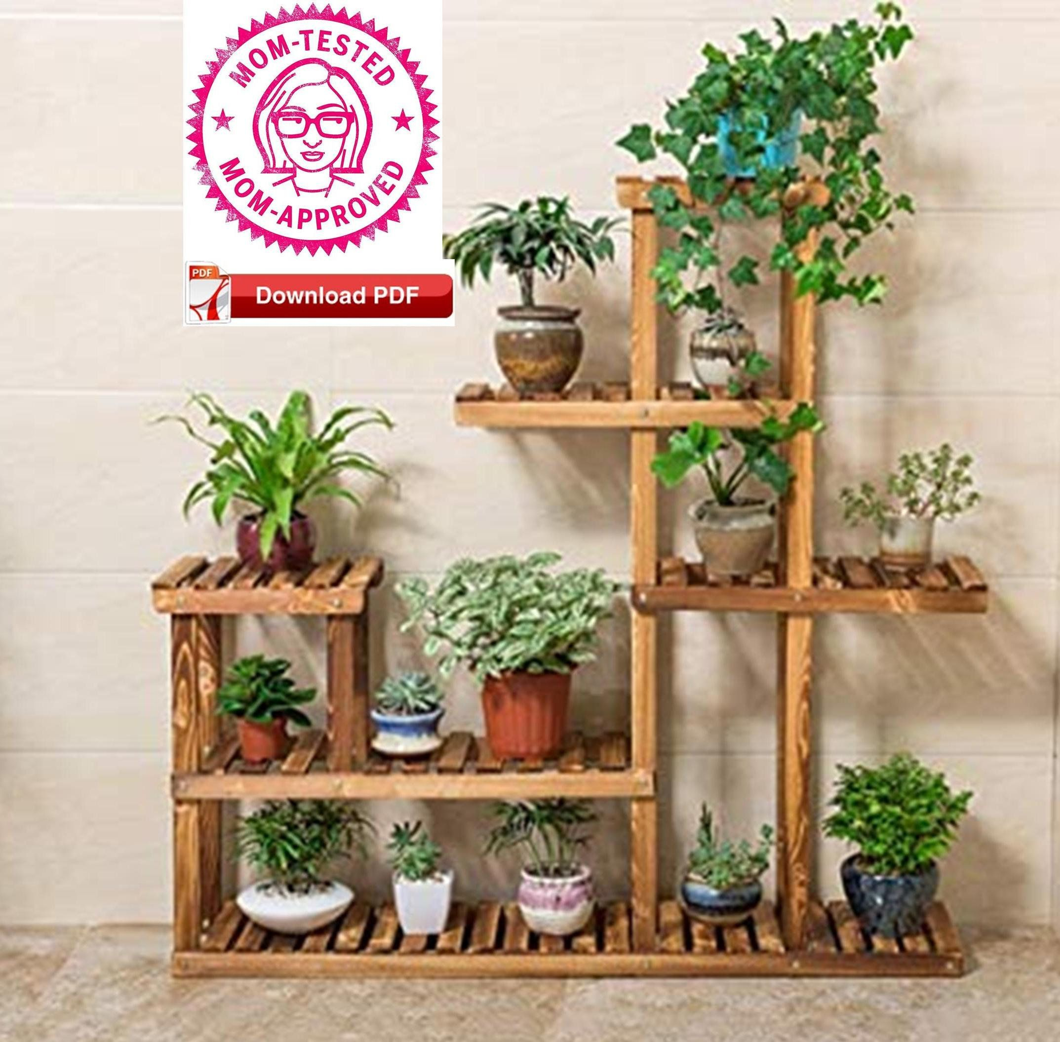 Plant Stand Plan Indoor Plant Stand Plan Pdf Etsy Plant Stand Indoor Plant Stand Diy Plant Stand