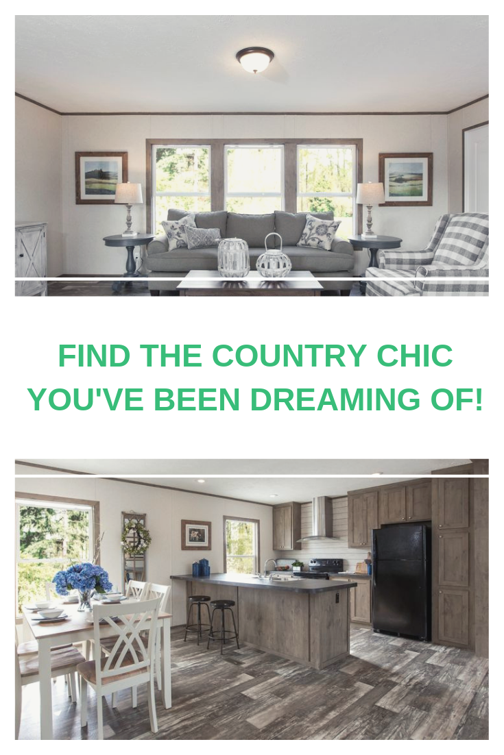 A Sliding Barn Door And Rustic Wood Accents The Breeze 2 5 From Clayton Homes Is The Country Chic Home You Ve B Clayton Homes Home Manufactured Homes For Sale