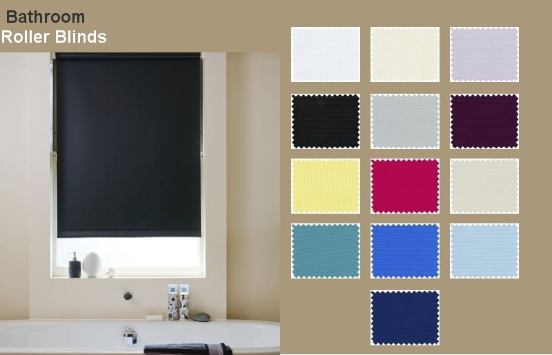 Waterproof Bathroom Blinds This Collection Of Blackout PVC Roller - Waterproof roller blind for bathroom