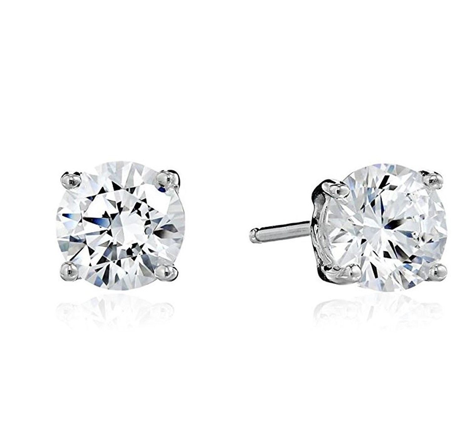 40f4627ef Surgical Stainless Earrings Zirconia Hypoallergenic - CY188HDX2GY - Earrings,  Stud