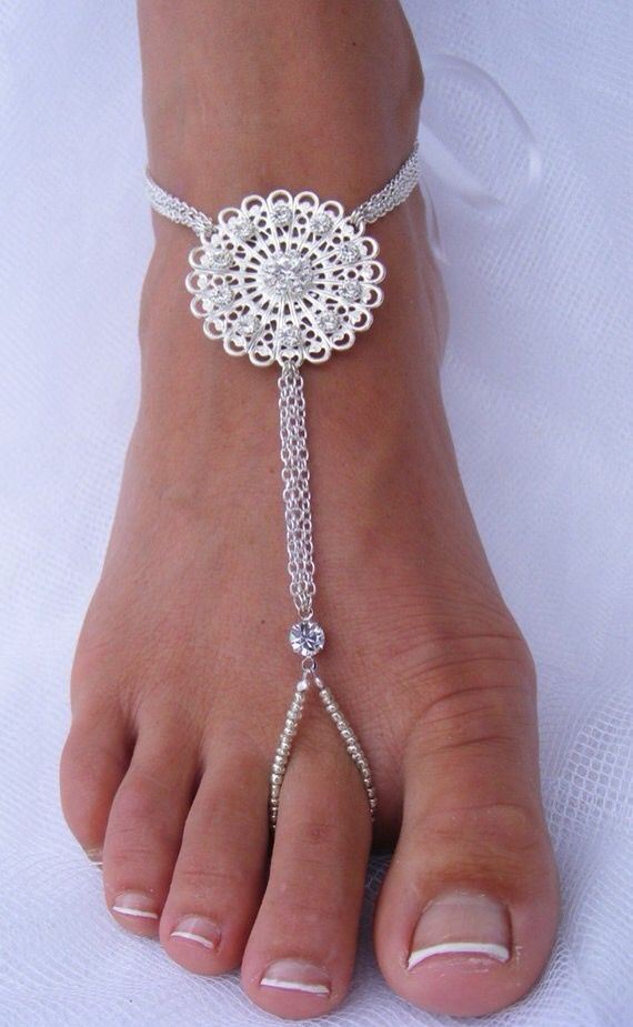 Barefoot Jewelry / Barefoot SandalsMore Pins Like This At FOSTERGINGER @ Pinterest
