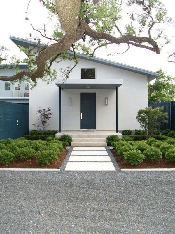 weiß fassade Haustürüberdachung Vordächer Glas und Holz