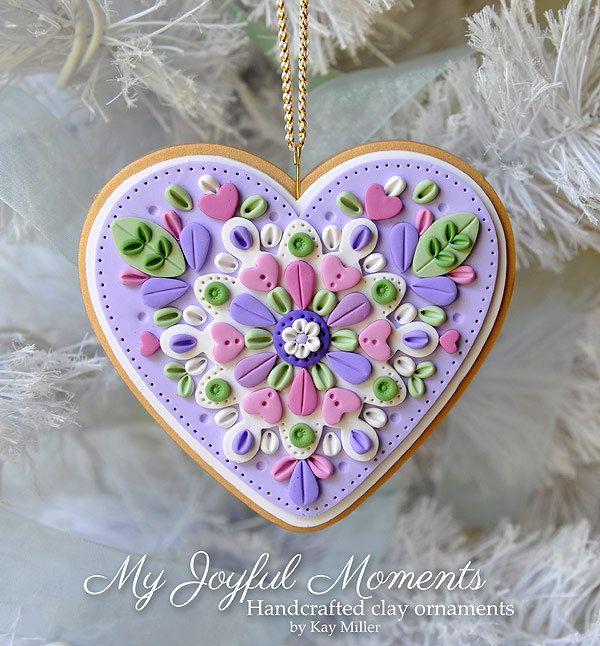 Handcrafted Polymer Clay Ornament by MyJoyfulMoments on Etsy, $15.00