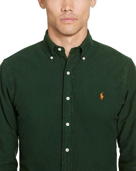 49b15dabc Slim Garment-Dyed Oxford Shirt - Slim Fit Casual Shirts - RalphLauren.com