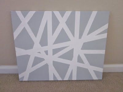 Diy Use Painters Tape For The Design Another Pinner Said We Did This To An Entire Wall Of My Daugter S Bedroom And Paint With Images Diy Wall Art Tape Wall Art