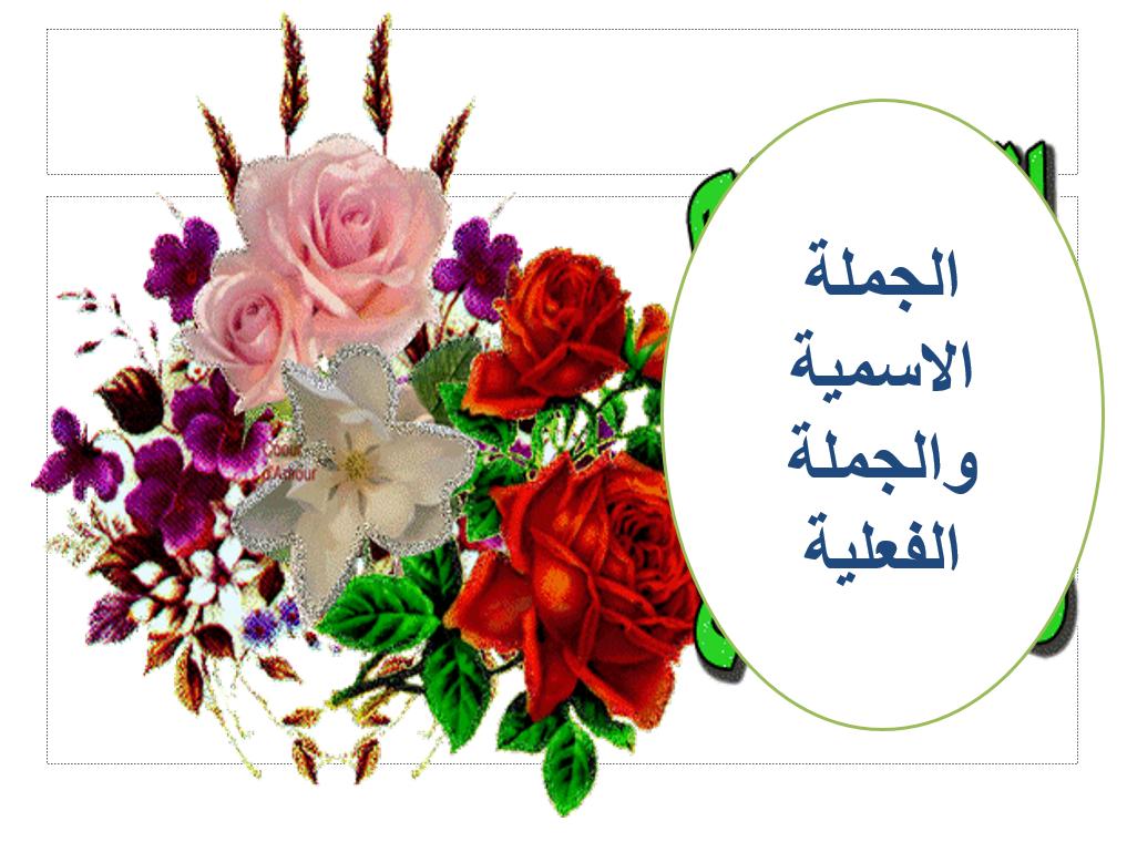 بوربوينت الجملة الاسمية والجملة الفعلية للصف الثالث مادة اللغة العربية Wreaths Arabic Langauge Hoop Wreath