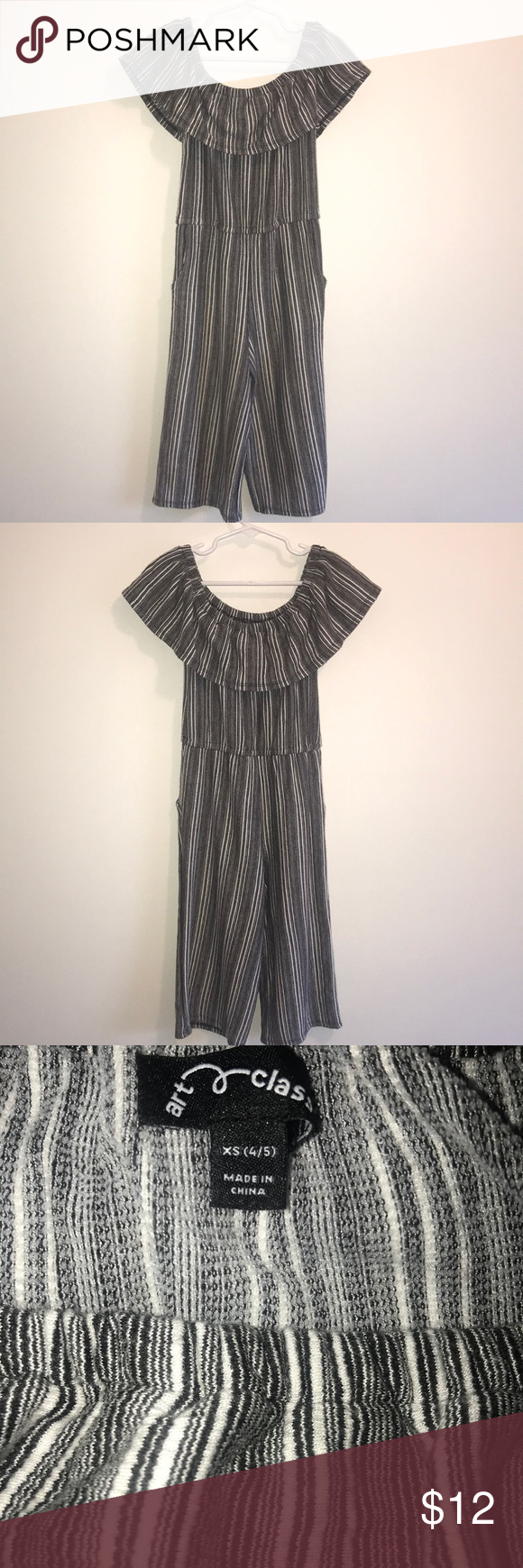 Art Class Girl's Off The Shoulder Jumpsuit The adorable ...