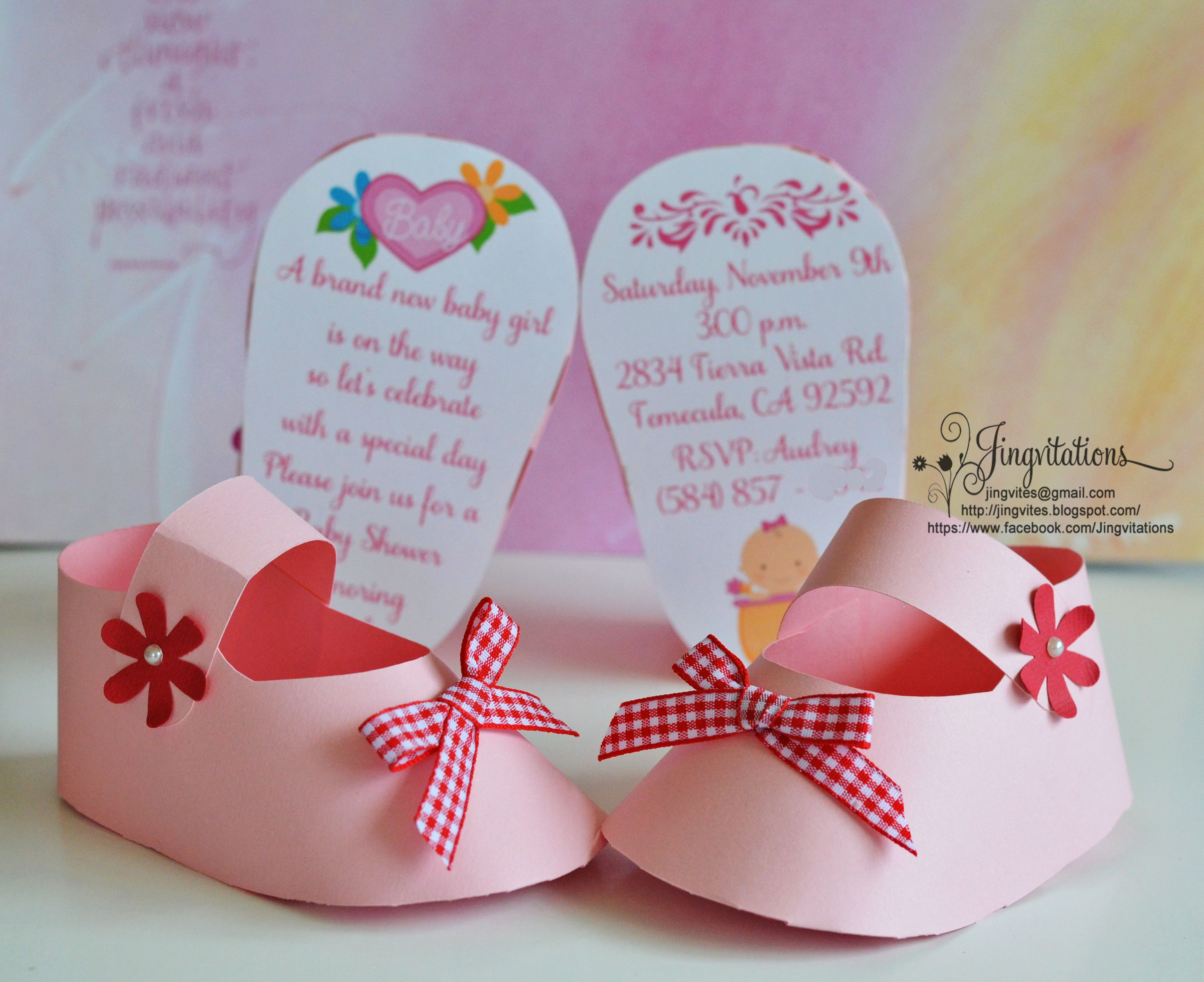 3D Invitations: Very Unique Baby Shoe Invites For Baby Shower