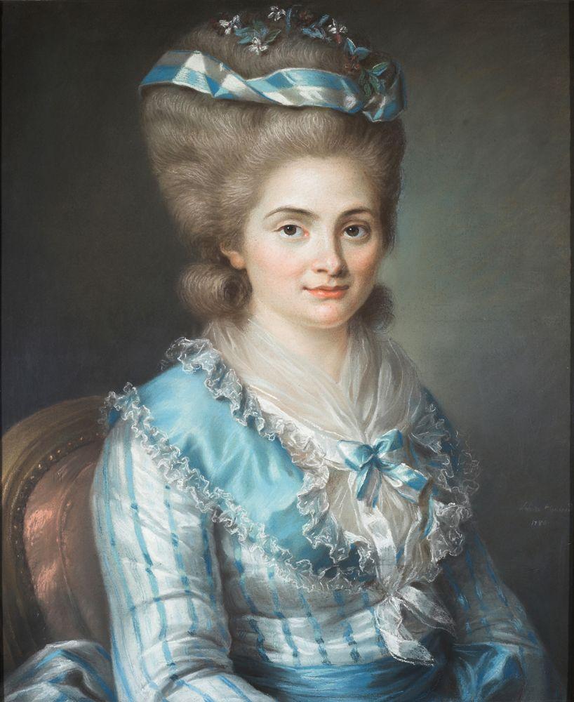 La Jeune Dame en robe bleue, the cover image, is a