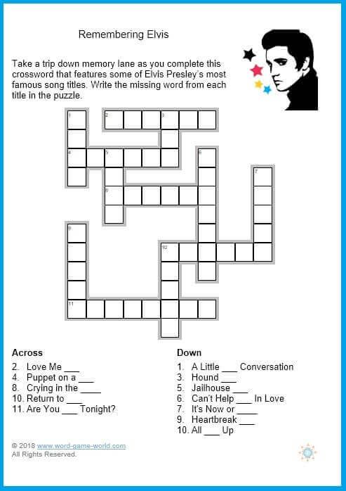 Gorgeous image for large print crossword puzzles printable