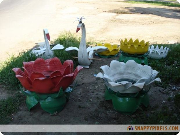 Diy projects with recycled tires 26 pictures snappy for Tire craft ideas