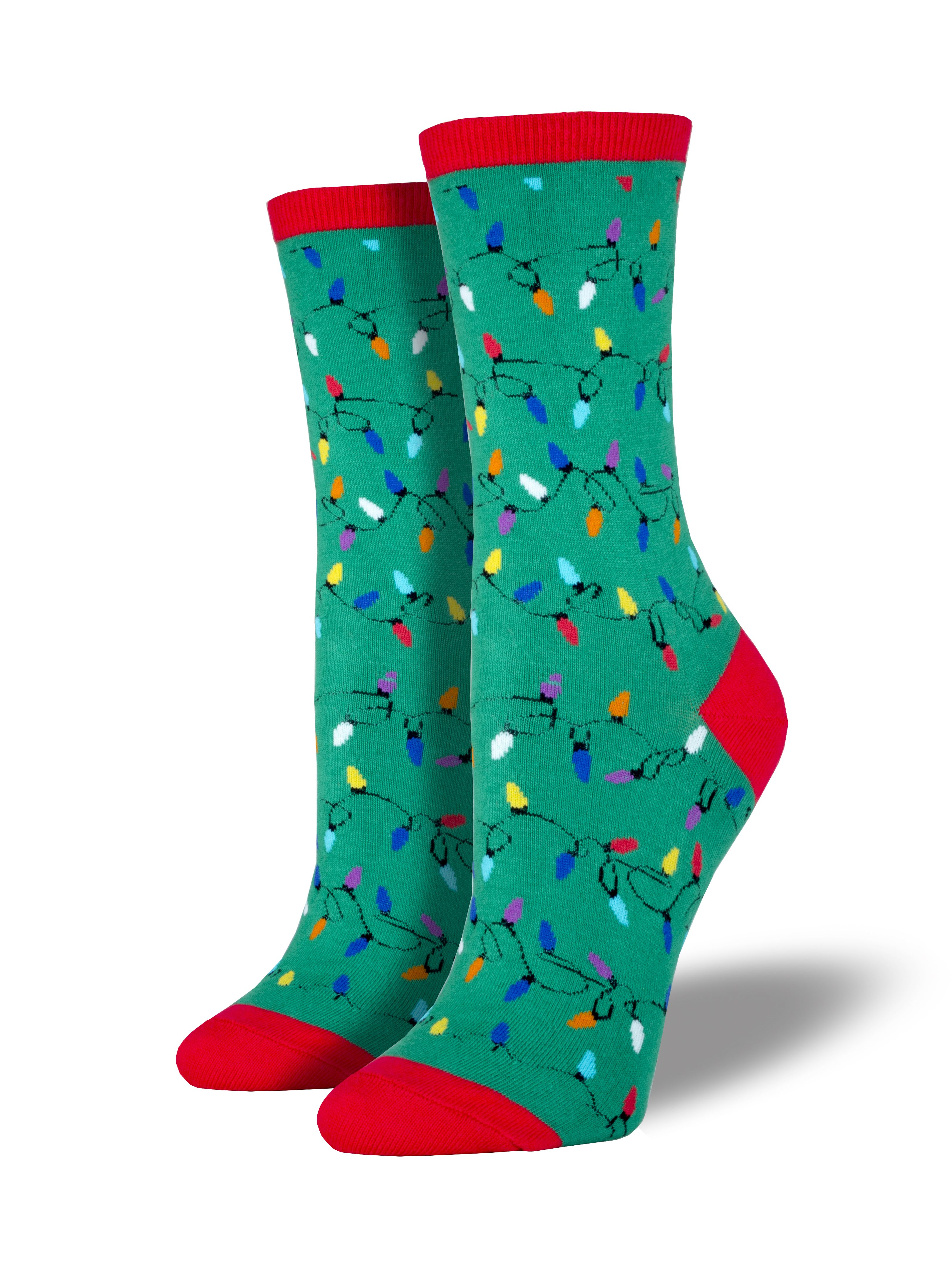 light up your feet with christmas lights socks perfect for the holidays your feet will be shining bright all day long
