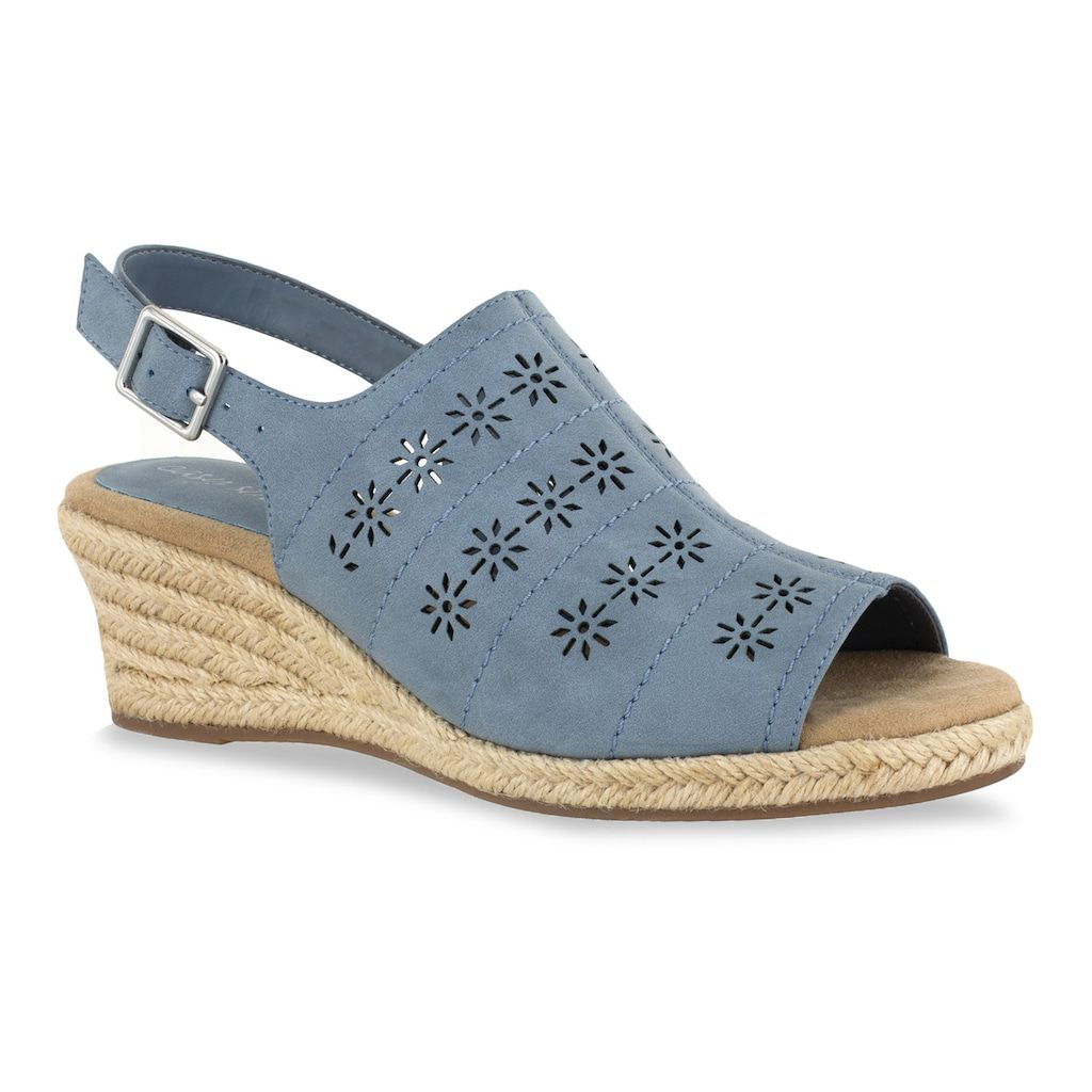 Easy Street Joann Women's Slingback Wedge Sandals, Size 7