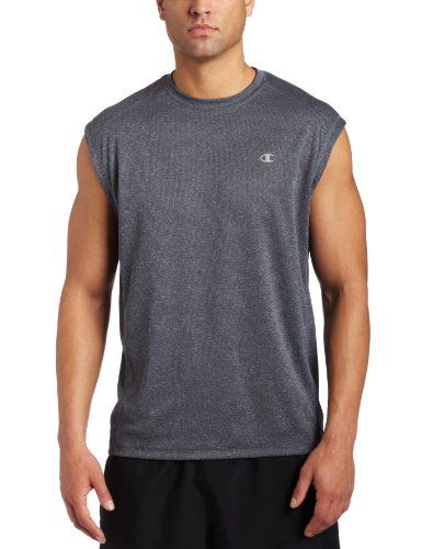 af2ccbfe9 Champion Men's Double Dry Training Muscle T Shirt, Slate Gray Heather. -  List Price: $24.00 - Buy New: $11.90 - You Save: 50% - Deal by: ...