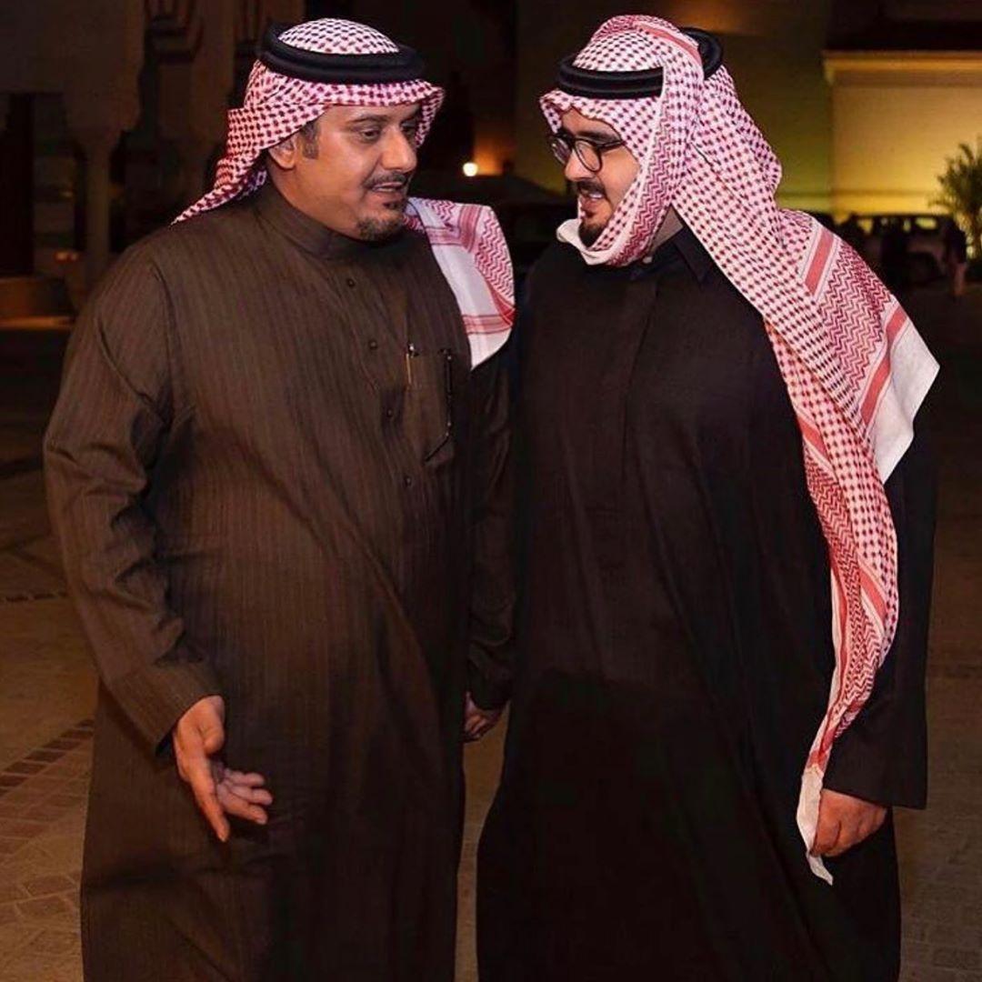 الأمير عبدالعزيز بن فهد بن عبدالعزيز والأمير نواف بن سعد بن عبدالله حفظهم الله في صورة جميلة Fashion Hijab
