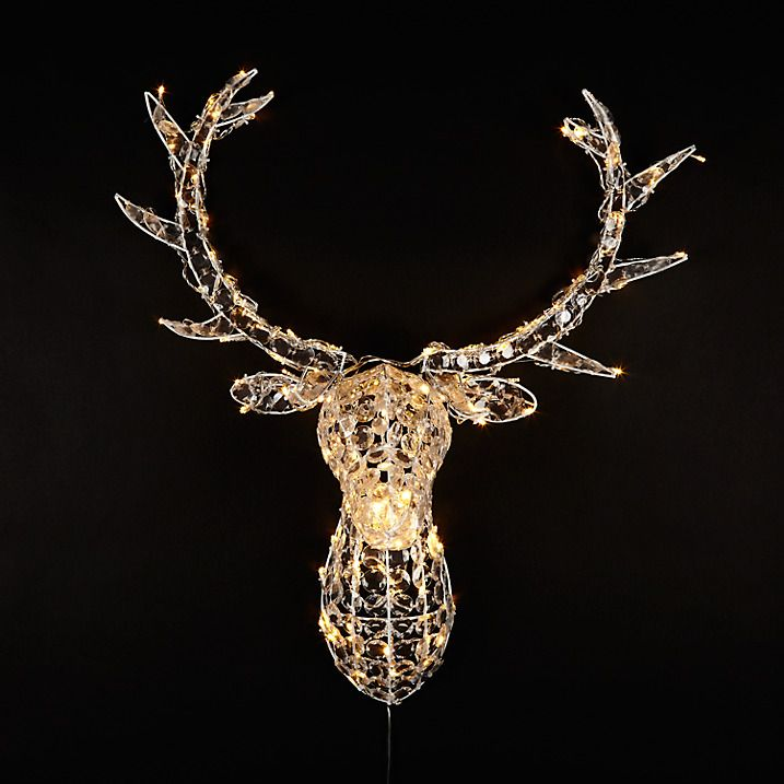 Outdoor String Lights John Lewis: Buy John Lewis Crystal Deer Head 140LED Christmas Light