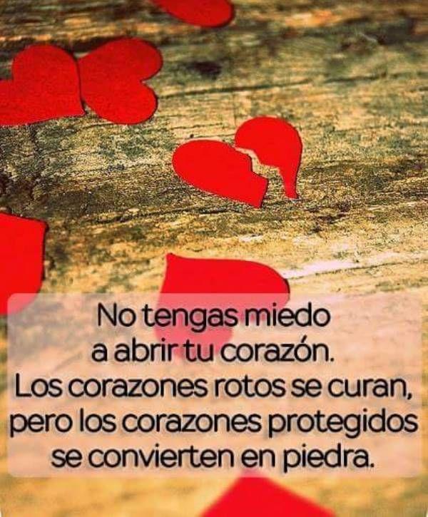 No Tengas Miedo A Abrir Tu Corazón Frases De Amor