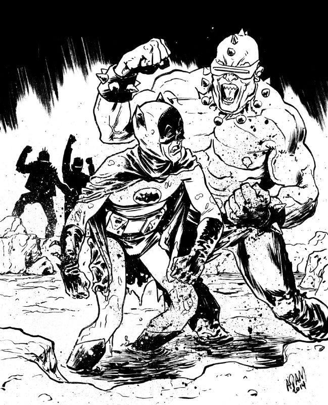Adam West Batman vs Mutant Leader by Adam Gorham | BAT-SHIT CRAZY ...