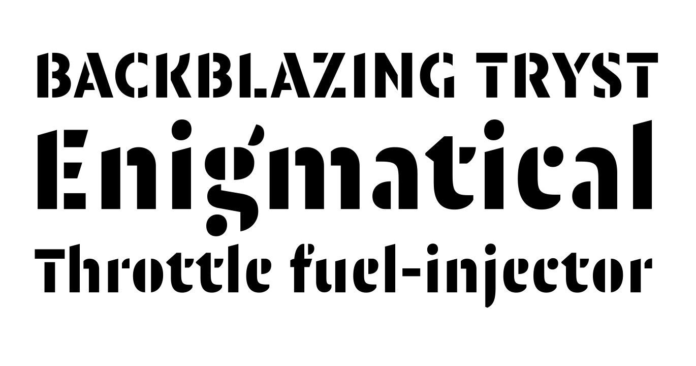 Orly Stencil Normal OT designed by Pierre Pané-Farré, published by OurType. #fonts #typography