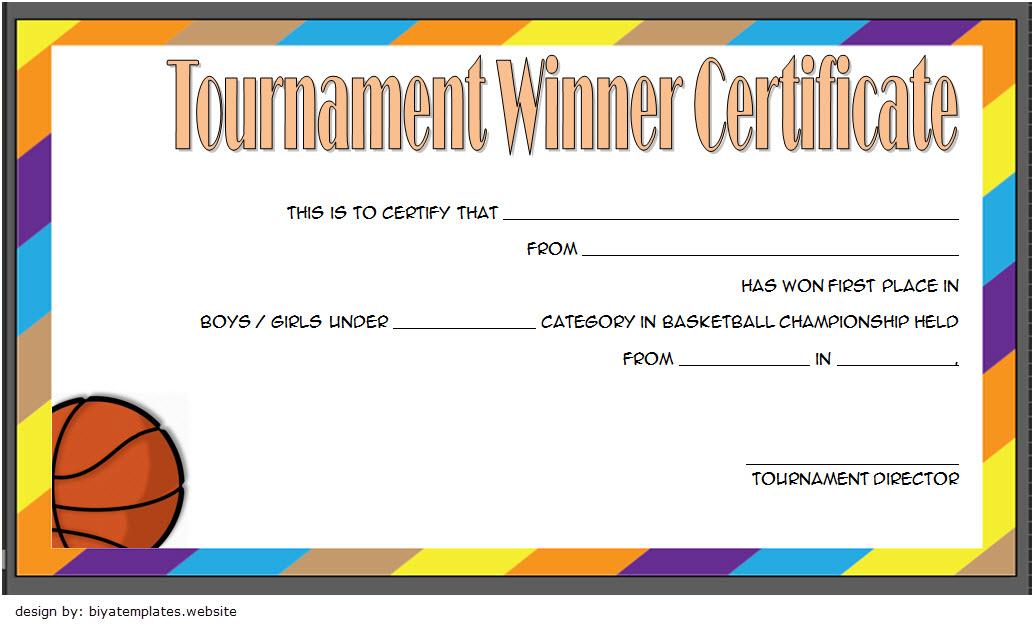 certificate tournament template basketball winner templates pdf word onepackage xyz prepared levels