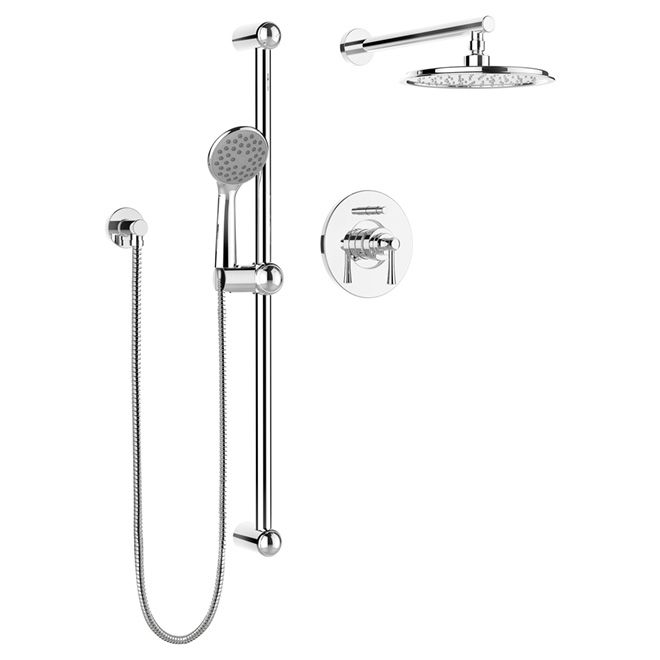 Hand Shower And Rail Kit With PB Diverter  Neo