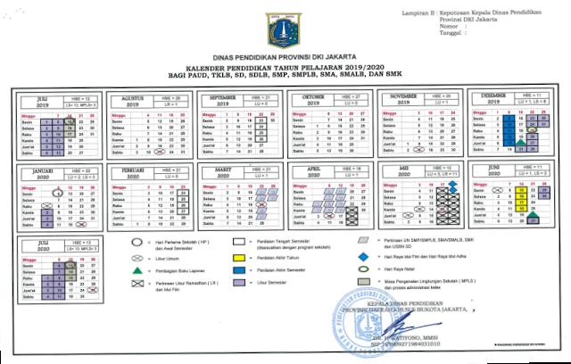 Kalender Pendidikan 2019 2020 Provinsi Dki Jakarta Pendidikan Kewarganegaraan Pendidikan Kalender Belajar