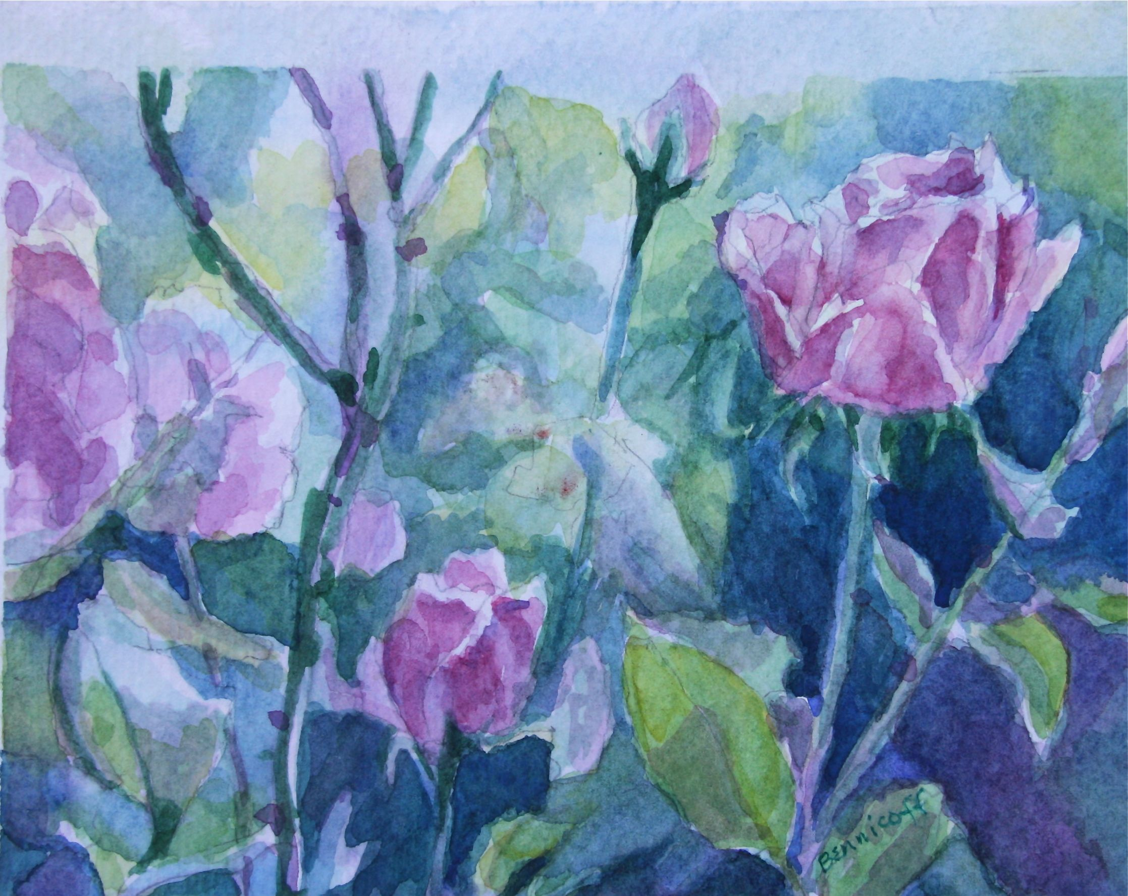 Watercolor artist websites - How Like The Rose Watercolor Prints Available At Www Jan Bennicoff Artistwebsites