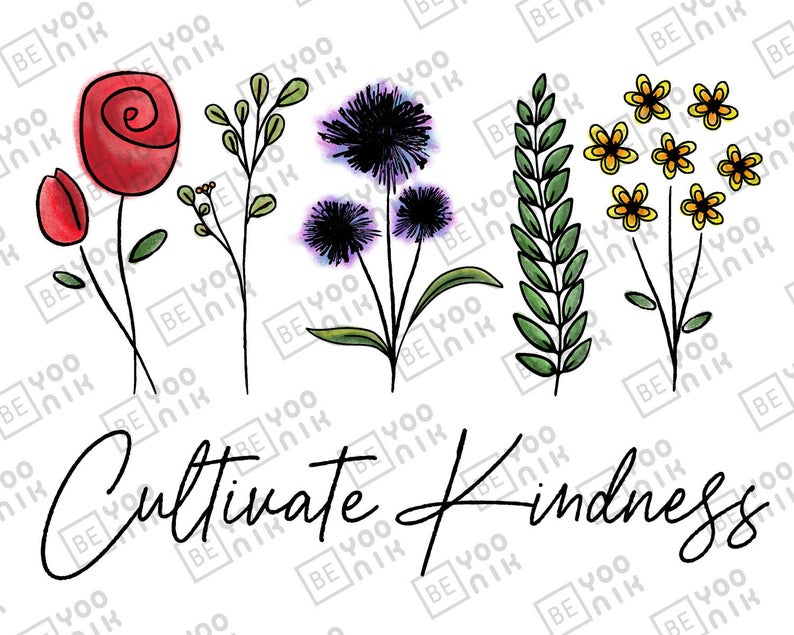 Hand Drawn Sublimation Design Of Flowers Cultivate Kindness Etsy In 2020 How To Draw Hands Flower Designs Abstract Line Art Free hand signs clipart pictures png. pinterest