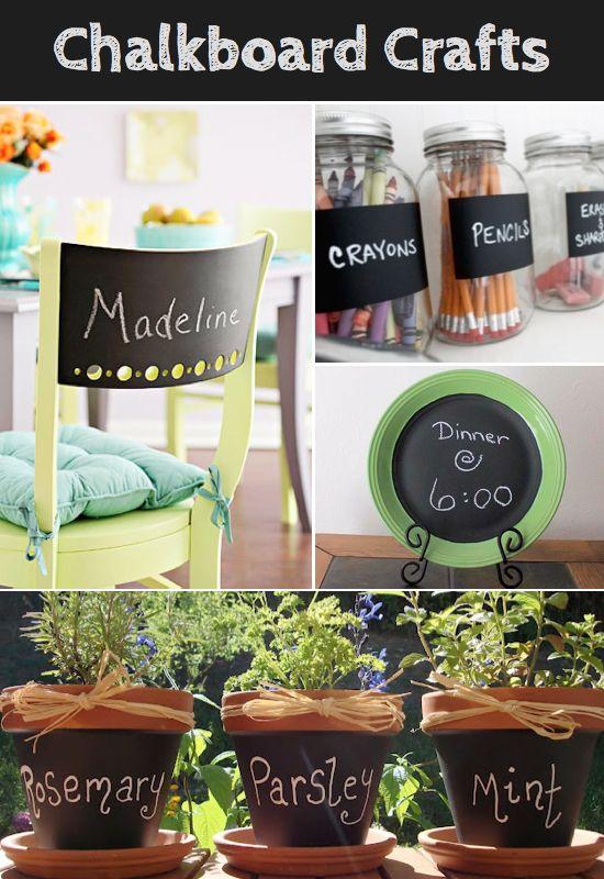 Lots of Chalkboard Craft ideas!