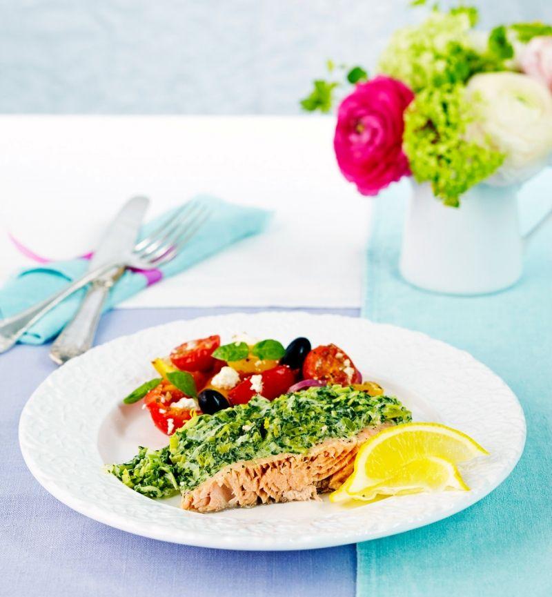 Paksu mascarpone-pinaattikastike maustetaan basilikalla. Kastike sopii eri kalojen kastikkeeksi. Kokeile myös pastakastikkeeksi. | K-Ruoka