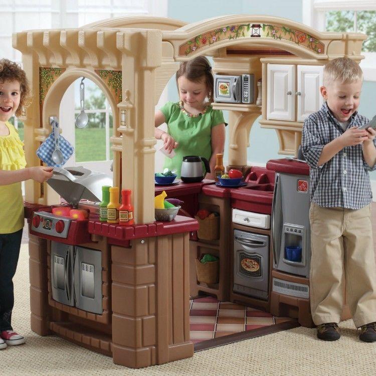 kids grand walk in play kitchen set grill toy furniture step2 t rh pinterest co uk