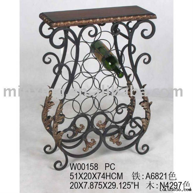 metal wine rack table - Wine Rack Table