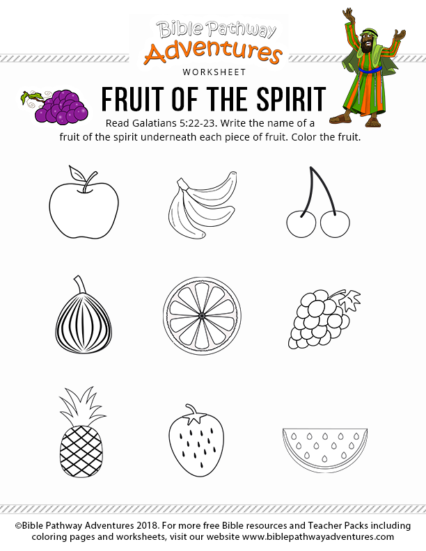 Fruit Of The Spirit Printables Download Collection