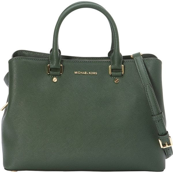 Michael Kors Shoulder Bag for Women On Sale in Outlet, Savannah, Moss Green, Leather, 2017, one size