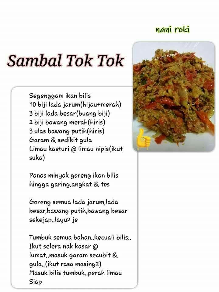 Resep Sambal Tok Tok Sauce Resep Masakan Resep Ikan Masakan