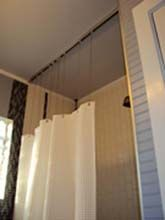 Shower Curtain Track With Drop Chains Curtains Shower Curtain Track Curtain Track