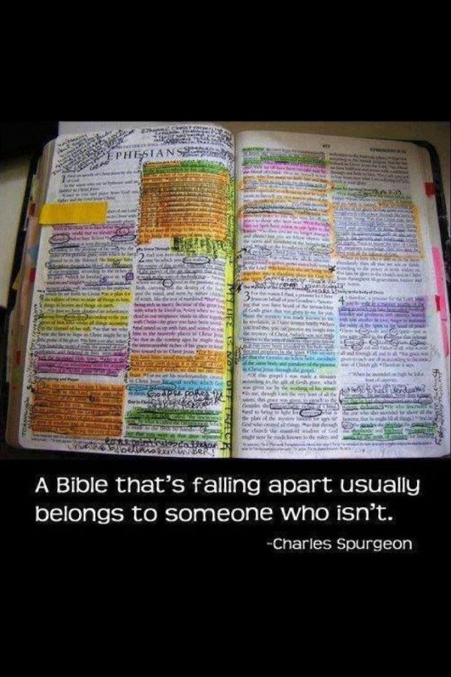 my Bible is starting to look like this..