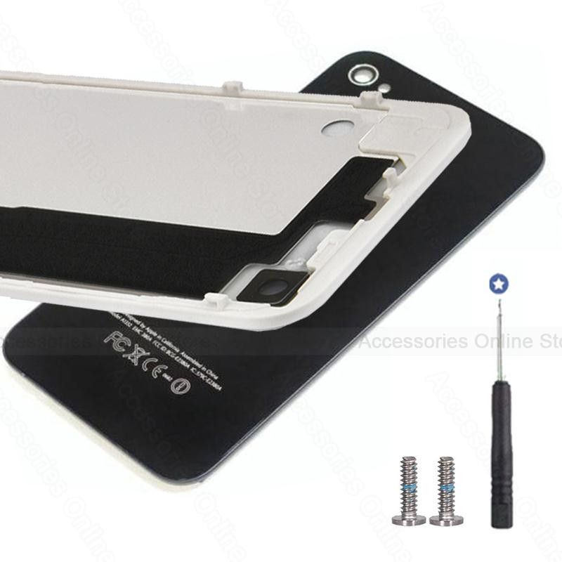 Rear Back Housing Battery Cover Glass Door Case For Apple Iphone 4