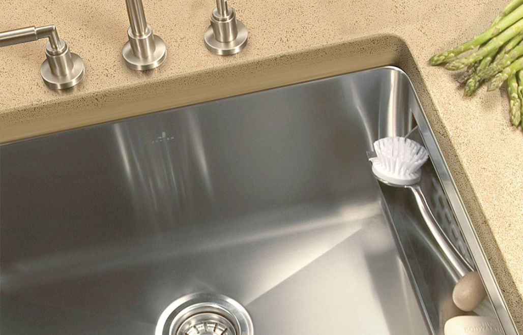 Corner Rounded Rectangular Kitchen Sink With Drawer By Julien / Classic  Collection